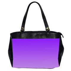 Violet To Wisteria Gradient Oversize Office Handbag (Two Sides)