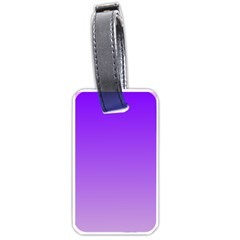 Violet To Wisteria Gradient Luggage Tag (One Side)