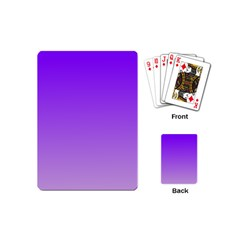 Violet To Wisteria Gradient Playing Cards (Mini)