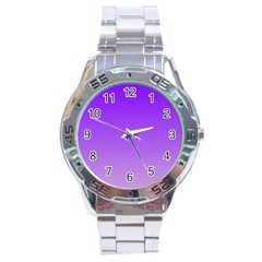 Violet To Wisteria Gradient Stainless Steel Watch (Men s)