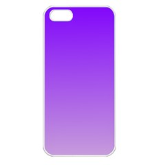 Violet To Wisteria Gradient Apple iPhone 5 Seamless Case (White)