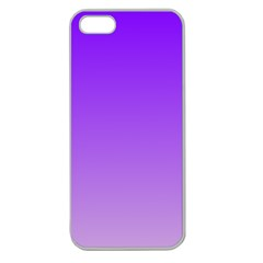 Violet To Wisteria Gradient Apple Seamless iPhone 5 Case (Clear)