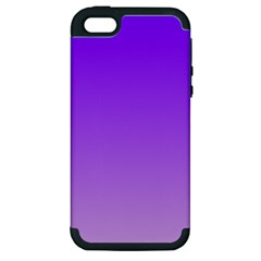 Violet To Wisteria Gradient Apple iPhone 5 Hardshell Case (PC+Silicone)