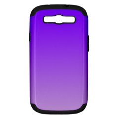 Violet To Wisteria Gradient Samsung Galaxy S III Hardshell Case (PC+Silicone)