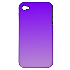 Violet To Wisteria Gradient Apple iPhone 4/4S Hardshell Case (PC+Silicone)