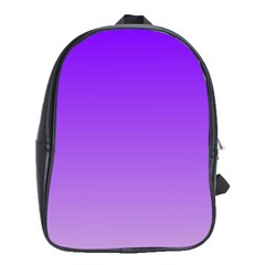 Violet To Wisteria Gradient School Bag (xl)