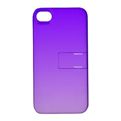 Violet To Wisteria Gradient Apple iPhone 4/4S Hardshell Case with Stand