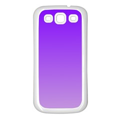 Violet To Wisteria Gradient Samsung Galaxy S3 Back Case (white)