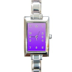 Wisteria To Violet Gradient Rectangular Italian Charm Watch