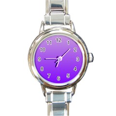 Wisteria To Violet Gradient Round Italian Charm Watch