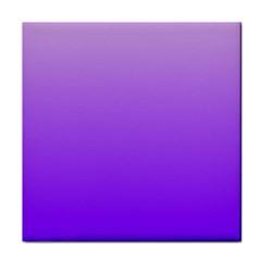 Wisteria To Violet Gradient Ceramic Tile