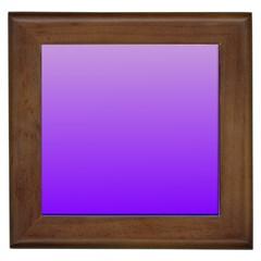 Wisteria To Violet Gradient Framed Ceramic Tile