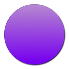 Wisteria To Violet Gradient 8  Mouse Pad (Round)