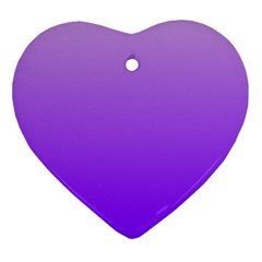 Wisteria To Violet Gradient Heart Ornament