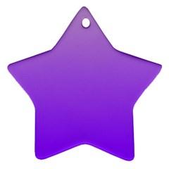 Wisteria To Violet Gradient Star Ornament
