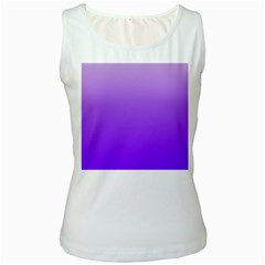 Wisteria To Violet Gradient Womens  Tank Top (white)