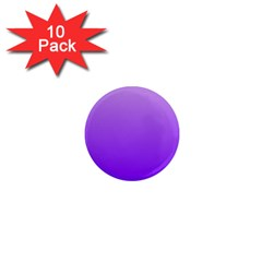 Wisteria To Violet Gradient 1  Mini Button Magnet (10 Pack)