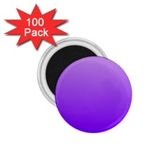 Wisteria To Violet Gradient 1.75  Button Magnet (100 pack)