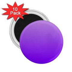 Wisteria To Violet Gradient 2.25  Button Magnet (10 pack)