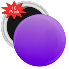 Wisteria To Violet Gradient 3  Button Magnet (10 pack)