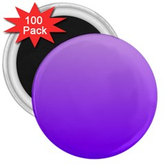 Wisteria To Violet Gradient 3  Button Magnet (100 Pack)