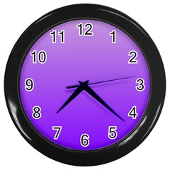 Wisteria To Violet Gradient Wall Clock (Black)