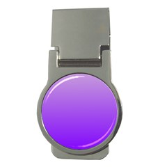 Wisteria To Violet Gradient Money Clip (round)