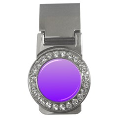 Wisteria To Violet Gradient Money Clip (CZ)