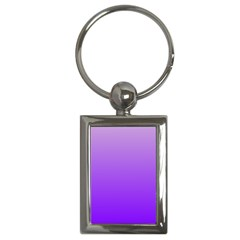 Wisteria To Violet Gradient Key Chain (rectangle)