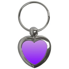 Wisteria To Violet Gradient Key Chain (Heart)