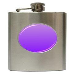 Wisteria To Violet Gradient Hip Flask