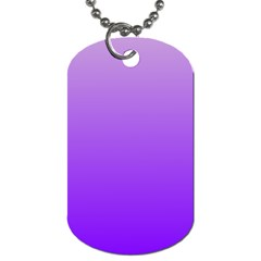 Wisteria To Violet Gradient Dog Tag (two Sided)