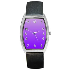 Wisteria To Violet Gradient Tonneau Leather Watch