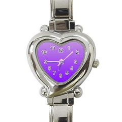 Wisteria To Violet Gradient Heart Italian Charm Watch