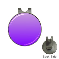Wisteria To Violet Gradient Hat Clip With Golf Ball Marker