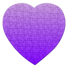 Wisteria To Violet Gradient Jigsaw Puzzle (Heart)