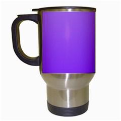 Wisteria To Violet Gradient Travel Mug (White)