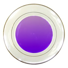 Wisteria To Violet Gradient Porcelain Display Plate