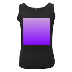 Wisteria To Violet Gradient Womens  Tank Top (black)
