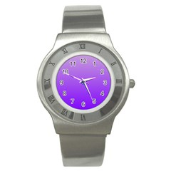Wisteria To Violet Gradient Stainless Steel Watch (Unisex)