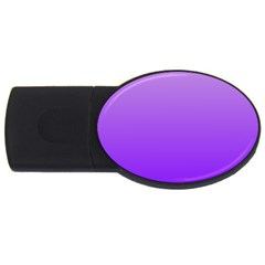 Wisteria To Violet Gradient 4gb Usb Flash Drive (oval)