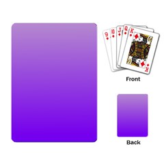 Wisteria To Violet Gradient Playing Cards Single Design