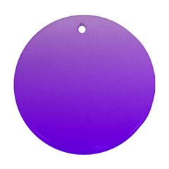 Wisteria To Violet Gradient Round Ornament (Two Sides)