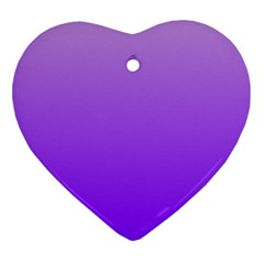 Wisteria To Violet Gradient Heart Ornament (two Sides)