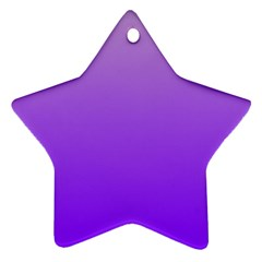 Wisteria To Violet Gradient Star Ornament (Two Sides)