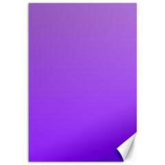 Wisteria To Violet Gradient Canvas 12  X 18  (unframed)