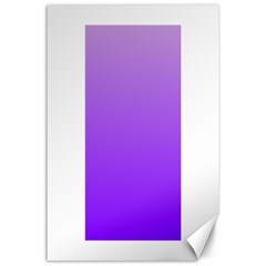 Wisteria To Violet Gradient Canvas 24  x 36  (Unframed)