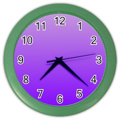 Wisteria To Violet Gradient Wall Clock (Color)
