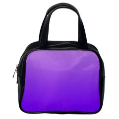 Wisteria To Violet Gradient Classic Handbag (One Side)