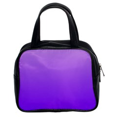 Wisteria To Violet Gradient Classic Handbag (two Sides)